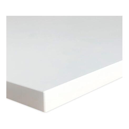 STIER Elektrisch höhenverstellbarer Steh-Tisch 501-19 138x92cm Weiß mel. 68-120cm