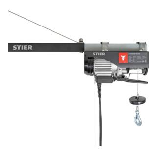 STIER Elektrischer Seilzug, 500 kg Tragkraft, 900 W Leistung