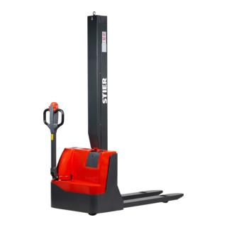 STIER Elektro-Stapler Monomast EML-10 Tragkraft 1000kg Hubhöhe 1600mm