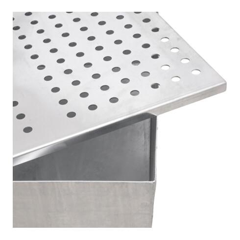 STIER Fahrbare Auffangwanne verzinkt für 2x200l Fässer 1200x800x1116mm