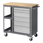 STIER Fahrbare Werkbank mit 6 Schubladen und 2 Fachböden BxTxH 960x450x950 mm