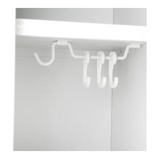STIER Garderobenspind, 1800 x 300 x 500 mm, lichtgrau