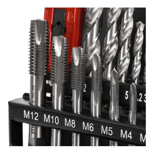 STIER Gewindeschneidzeugsatz 15-teilig M3-M12 Form B HSS-G