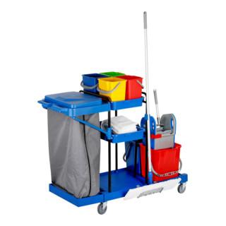 STIER Großer Hygiene- und Reinigungswagen (inkl. STIER Wischmop-Set und 5x STIER Moppbezug)