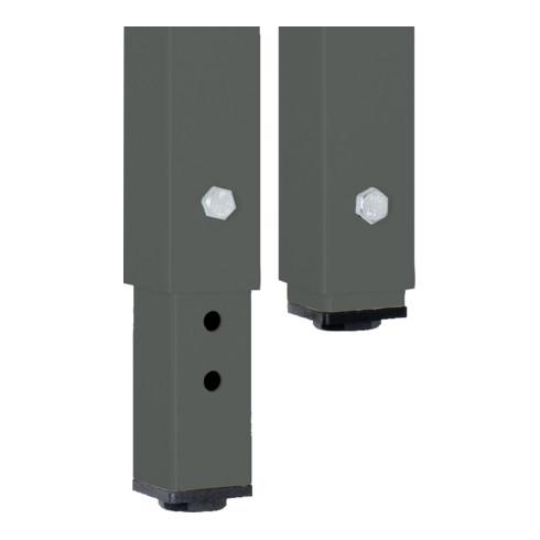 STIER Höhenverstellbare Werkbank Premium mit 1 Schublade BxTxH 1500x700x840-1040mm