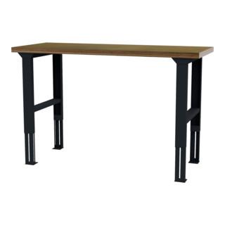 STIER höhenverstellbarer Werktisch BxTxH 1500x600x760-1060 mm