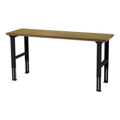 STIER höhenverstellbarer Werktisch BxTxH 2000x600x760-1060 mm