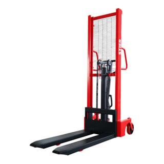 STIER Hydraulik-Stapler 1000kg Traglast, 1600mm Hubhöhe mit Einfach-Mast