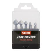 STIER Kegelsenker-Set 5-teilig