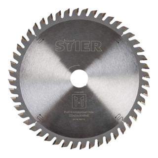 STIER Kreissägeblatt, Holz, 225 x 2,6 x 30 mm, 68 Zähne, Wechselzahn
