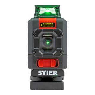 STIER Kreuzlinienlaser, 360° x 120°, 505 - 532 nm, grün