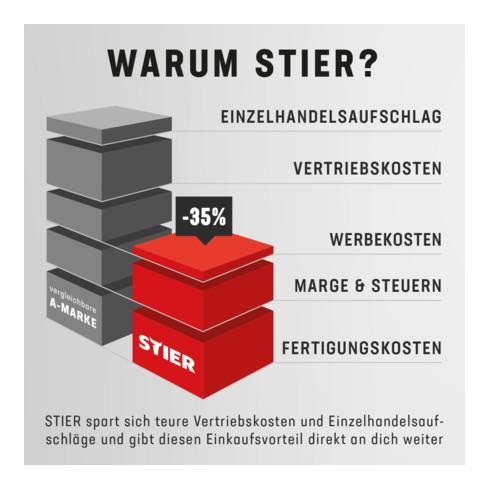 STIER Lenkrolle für STIER Edelstahl-Servierwagen mit 3 Etagen