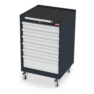 STIER Mobiler Schubladenschrank mit 6 Schubladen BxTxH 600x575x990 mm
