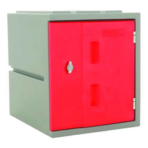 STIER Modulares Kunststoff-Schließfach mit Drehriegelschloss 460x385x470mm Rot