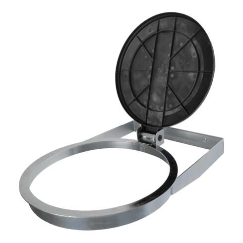 STIER Müllsackhalter zur Wandbefestigung schwarz für 120l Volumen BxTxH 550x370x100mm