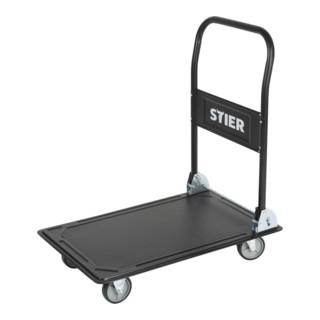 STIER Plattformwagen klappbar Tragkraft 300kg Plattform 910x610mm