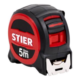 STIER Premium Taschenbandmaß 5 m x 32 mm mit Magnet und Edelstahlhaken
