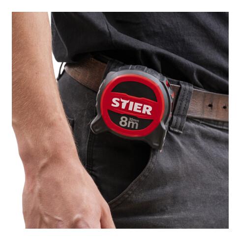 STIER Premium Taschenbandmaß 8 m x 32 mm mit Magnet und Edelstahlhaken