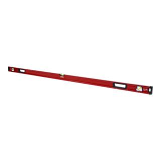 STIER Premium Wasserwaage mit Magnet und drei Libellen 1800 mm ±0,5 mm/m
