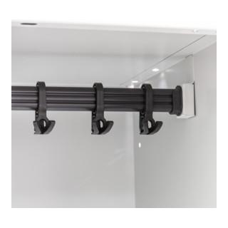 STIER Putzmittel-Spind mit 2 Abteilen 1800x610x500mm auf Sockel
