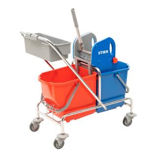 STIER Reinigungswagen mit Ablagekorb Set
