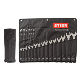 STIER Ringmaulschlüssel-Satz SW 6 - 32 mm 21-teilig