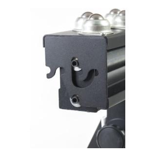 STIER Rollständer, 200 kg Tragkraft, mit Kugelleiste und Tragrolle