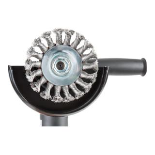 STIER Rundbürste Ø 115 mm, M14, 0,5 mm, gezopft, Stahl