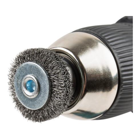 STIER Rundbürste, Schaft-Ø 6 mm, gewellt, Stahl