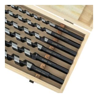 STIER Schlangenbohrer Tieflochbohrer Set 6-teilig 385 / 460 mm 10 - 20 mm Federstahl