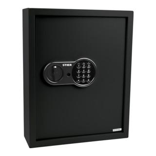 STIER Schlüsselkasten mit Elektronikschloss 71 Haken