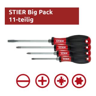 STIER Schraubendreher-Satz Big Pack 11-teilig