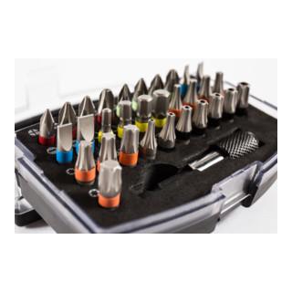STIER Schrauberbit-Satz Professional, mit Schnellwechselhalter und Farbcodierung, 32-teilig