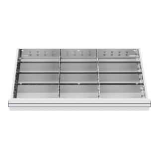 STIER Schubladeneinteilung Metalleinteilung BLH 100/125 mm Innenmaß 800x450 mm 12 Fächer 6 x TW 275
