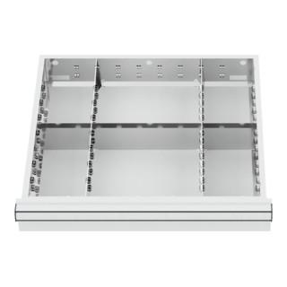 STIER Schubladeneinteilung Metalleinteilung BLH 150/175 mm Innenmaß 500x450 mm 6 Fächer