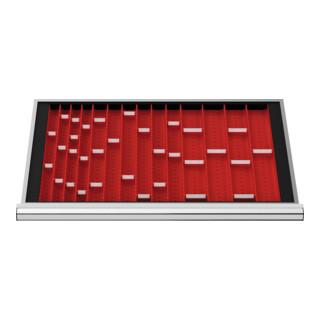 STIER Schubladeneinteilung Muldenplatten BLH 50 mm Innenmaß 800x450 mm 6 MP mit 2 Mulden
