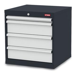 STIER Schubladenschrank mit 4 Schubladen BxTxH 600x575x620 mm