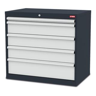STIER Schubladenschrank mit 5 Schubladen BxTxH 900x575x820 mm