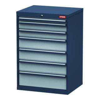 STIER Schubladenschrank, Schubladen: 1x50, 2x100, 3x150, 1x200, BxTxH 700x575x1020 mm