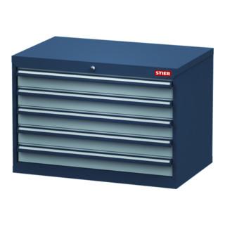 STIER Schubladenschrank, Schubladen: 5x100, BxTxH 900x575x620 mm