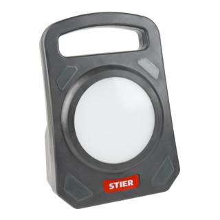 STIER SMD-LED Arbeitsleuchte 50W 4.000 Lumen mit 3 Schuko-Steckdosen