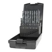 STIER Spiralbohrer-Set HSS-R DIN 338 RN Typ W-Spitze, 19-teilig (1-10mm)