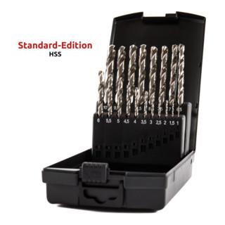 STIER Spiralbohrer-Set Standard DIN 338 HSS-G 1-10mm 19-teilig in Kassette