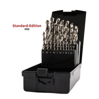 STIER Spiralbohrer-Set Standard DIN 338 HSS-G 1-13mm 25-teilig in Kassette