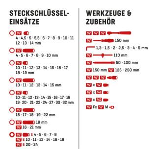 STIER Steckschlüssel-Satz 1/4'' 3/8'' 1/2'' 179-teilig