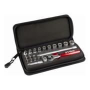 STIER Steckschlüssel- und Bit-Satz 1/4'' 24-teilig in Handwerkertasche