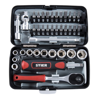 STIER Steckschlüssel- und Bit-Satz 1/4'' 38-teilig