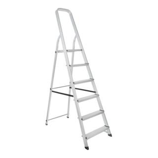 STIER Stehleiter mit Plattform 6 Stufen einseitig begehbar DIN EN 131