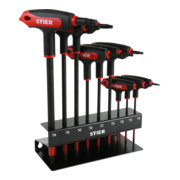 STIER T-Griff-Schraubendreher-Satz Torx TX10 - TX50 9-teilig