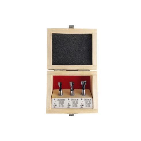STIER T-Nutfräser-Set 3-teilig M5 M6 und M8 Schrauben 8 mm für Oberfräsen